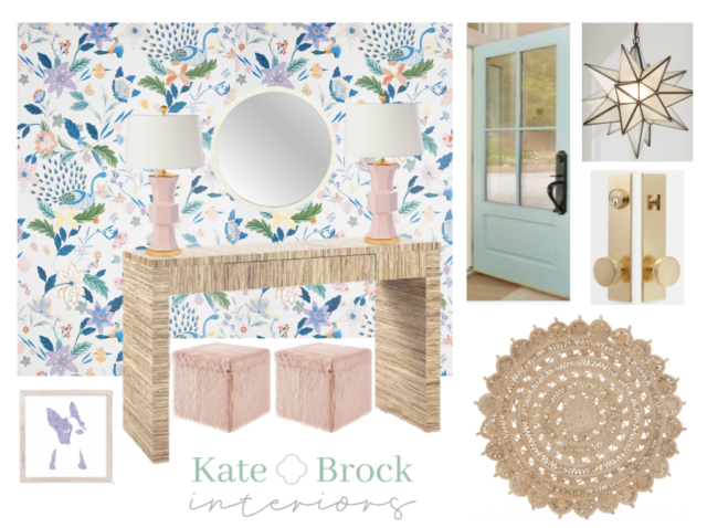 Bold Floral Entry Kate Brock Interiors