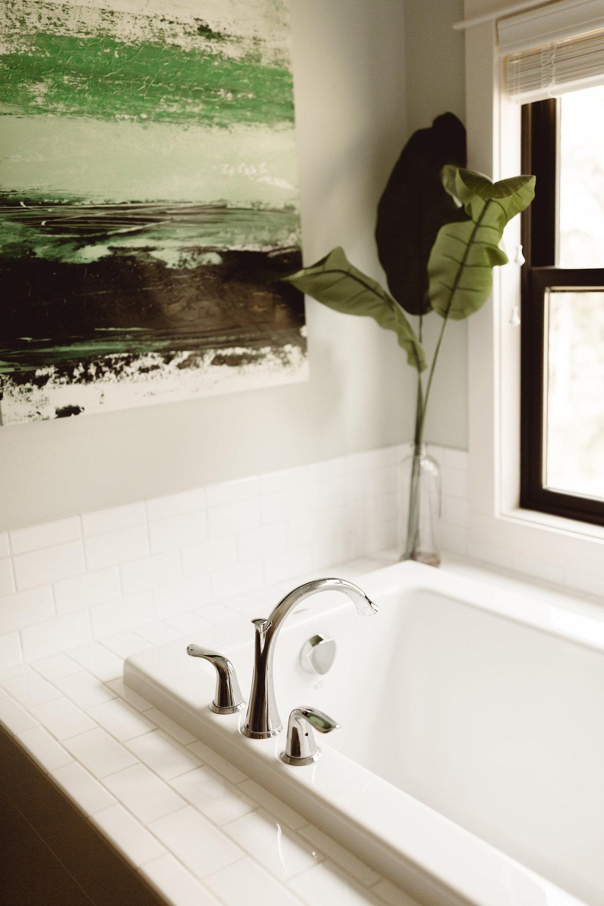 Modern Farmhouse New Build - Master Bath - Kate Brock Interiors