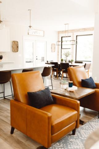 Modern Farmhouse New Build - Living Room - Kate Brock Interiors