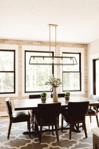Modern Farmhouse New Build - Dining Room - Kate Brock Interiors