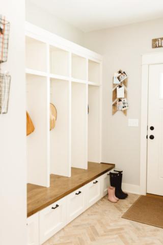Modern Farmhouse New Build - Entryway - Kate Brock Interiors