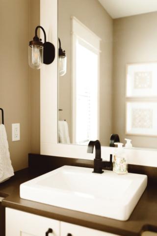 Modern Farmhouse New Build - Guest Bath - Kate Brock Interiors