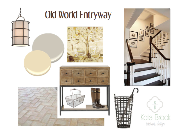 Old World Entryway - Kate Brock Interiors eDesign
