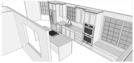 Transitional Kitchen Remodel - Floor Plan - Kate Brock Interiors