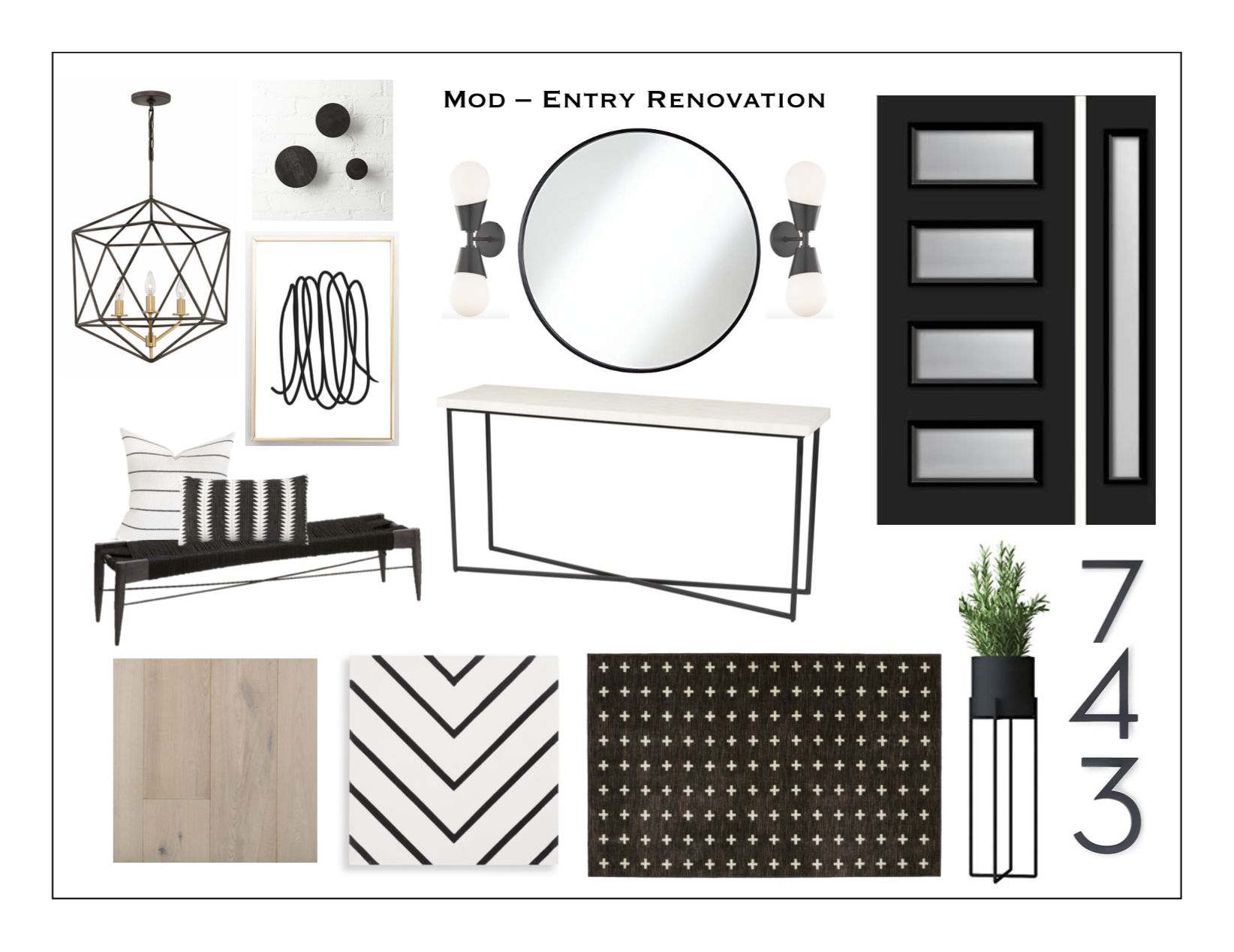Mod Entry Renovation - Kate Brock Interiors eDesign